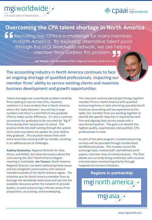 Overcoming the CPA talent shortage in North America